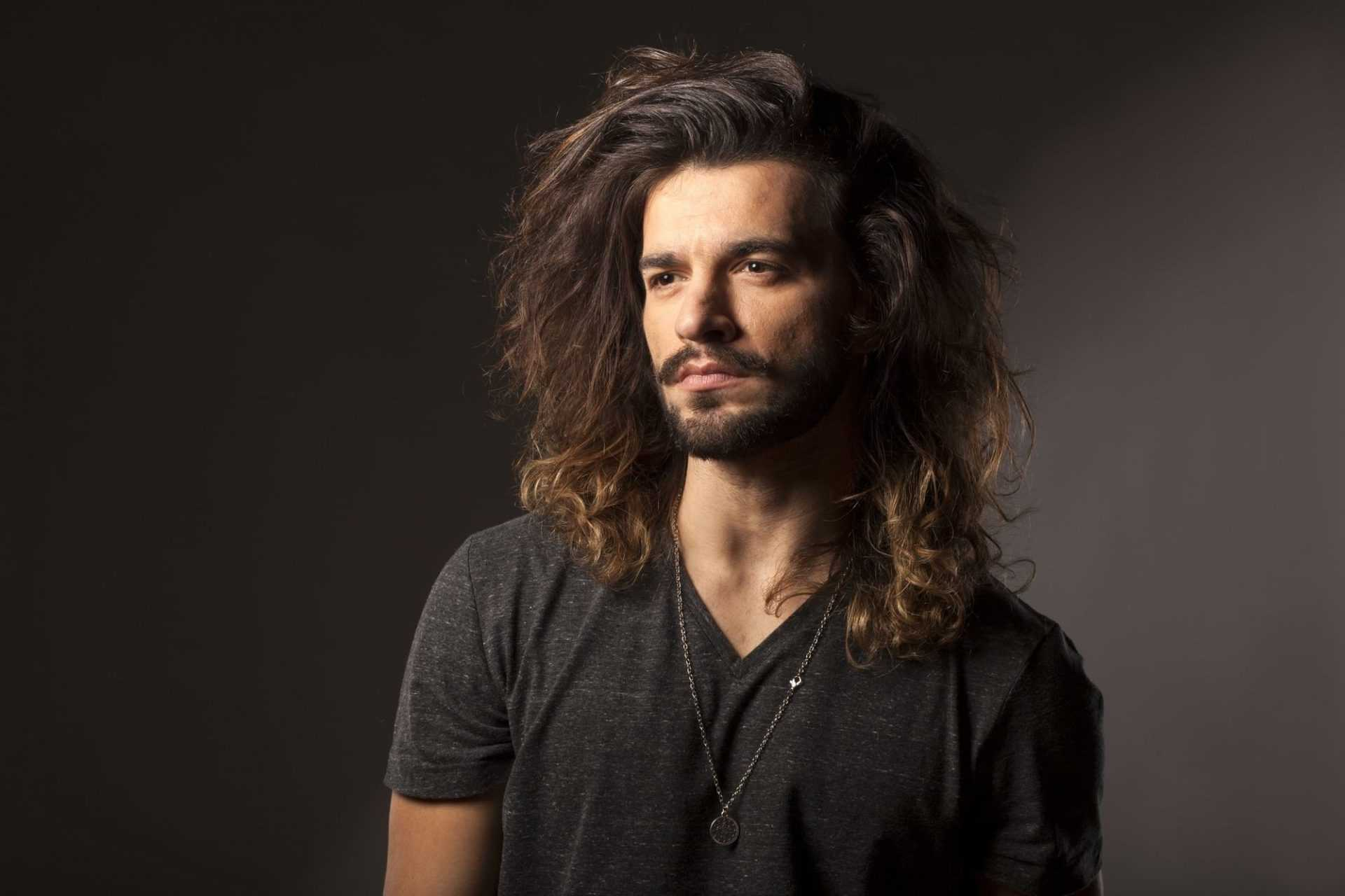 man with dry hair
