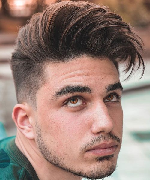 Side Swept Quiff hairstyle